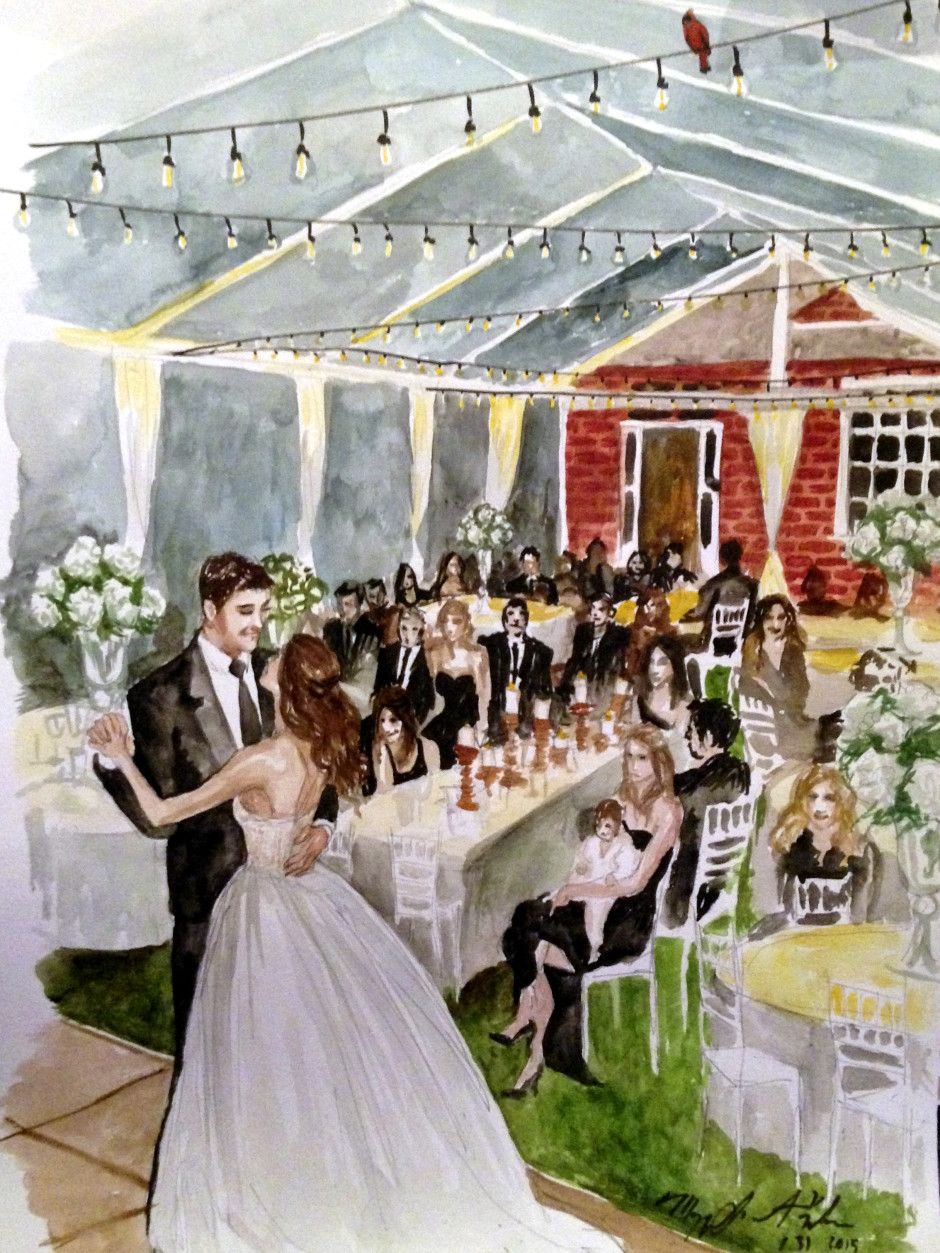 aly dave wedding live event painting iamnotmaggie