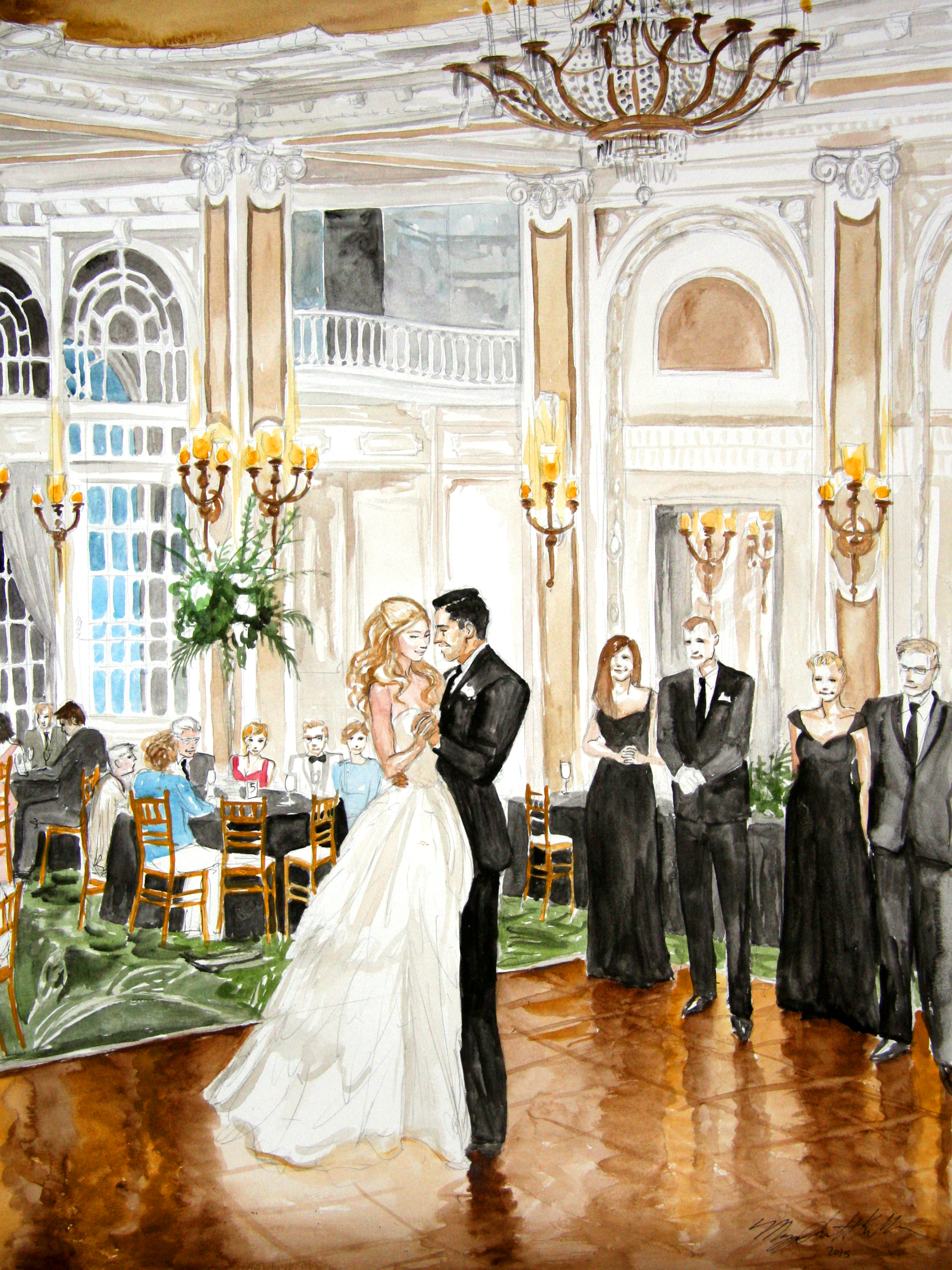 raina miguel wedding live event painting