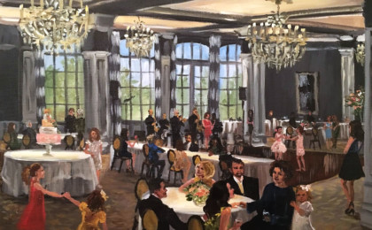 Diana's 70th Birthday: Live Event Painting