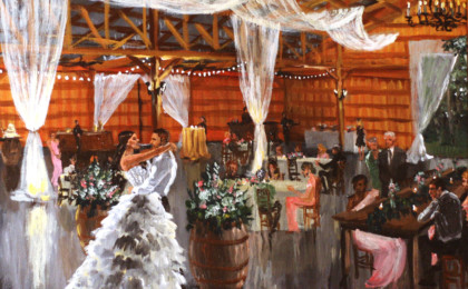 Hailey & Aaron: Live Event Wedding Painting