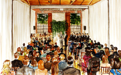 Allie & Stan: Watercolor Live Event Wedding Painting