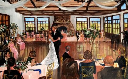 Erin & David: Acrylic Live Event Wedding Painting