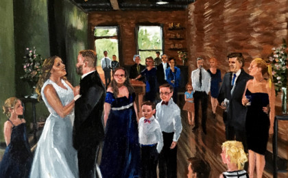 Rana & Casey: Acrylic Live Event Wedding Painting
