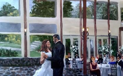 Stephanie & Ray: Acrylic Live Event Wedding Painting