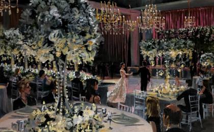 Allison & Brandon Acrylic Live Event Wedding Painting