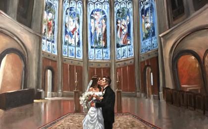 Acrylic Photography Based Wedding Portrait