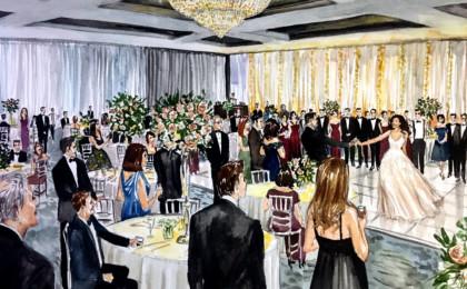 Alexandra & Joseph: Watercolor Live Event Wedding Painting