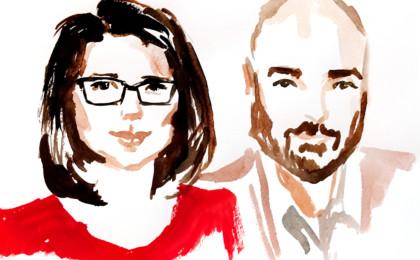 Watercolor Live Painted Portrait Favors Slideshow