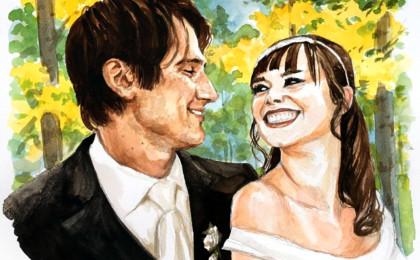 Watercolor Wedding Photo Based Portrait