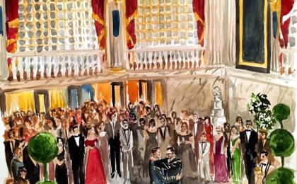 John & Jeremiah: Watercolor Live Event Wedding Reception Painting