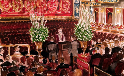 John & Jeremiah: Watercolor Live Event Wedding Ceremony Painting