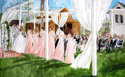 Adi & Madeline: Watercolor Live Event Wedding Painting
