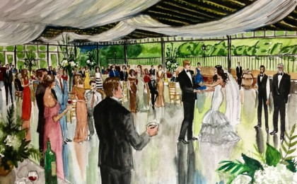 Michelle & Whit:Watercolor Live Event Wedding Painting