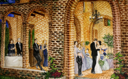 Jackie & Ehren: Watercolor Live Event Wedding Painting
