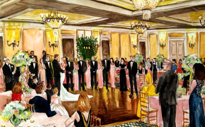 Mariah & Paul: Watercolor Wedding Live Event Painting