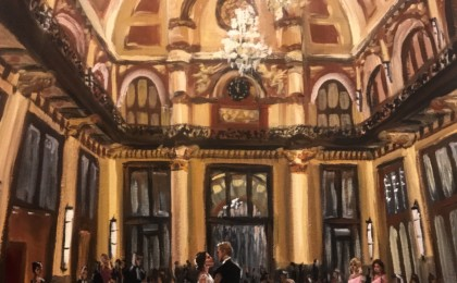 Grace & Taylor: Acrylic Live Event Wedding Painting