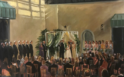Jennifer & Tim: Acrylic Live Event Wedding Painting