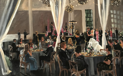 Erin & Taylor: Acrylic Live Event Wedding Painting