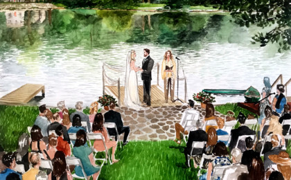 Kimberly & Gerrit: Watercolor Wedding Live Event Painting