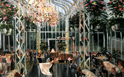 Julie & Greg: Acrylic Live Event Wedding Painting