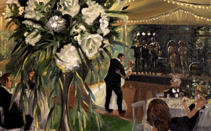 Lacey & Gibbens Live Event Wedding Acrylic Painting