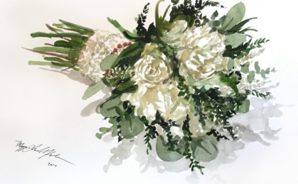 Bridal Bouquet Watercolor Painting