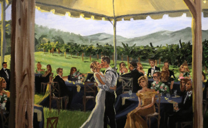 Nichole & Alex: Acrylic Live Event Wedding Painting