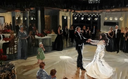 Ali & Heath: 22×28 inch Acrylic Live Event Wedding Painting